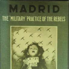 Postales: POSTAL ORIGINAL GUERRA CIVIL - REPUBLICANA - MADRID: THE MILITARY PRACTICE OF THE REBELS. Lote 43318493