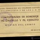 Postales: LIBRO DE 20 POSTALES MEDINA DEL CAMPO CONCENTRACION EN HOMENAJE AL CAUDILLO AÑO DE LA VICTORIA. Lote 43519935