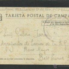 Postales: TARJETA POSTAL DE CAMPAÑA - CIRCULADA EL 13 DE DICIEMBRE DE 1938 DESDE EL EJERCITO DEL EBRO- (23292). Lote 43753675