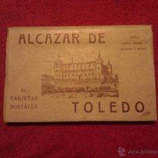 Postales: BLOC DE 21 POSTALES ALCAZAR DE TOLEDO. HAUSER Y MENET. Lote 46285882