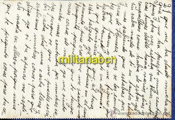 Postales: Targeta postal. Milícies Antifeixistes de Catalunya. Guerra Civil. 25. 04. 1937 - Foto 2 - 46292220