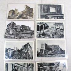 Postales: 8 POSTALES FOTOGRAFICAS ORIGINALES GUERRA CIVIL ESPAÑOLA ASEDIO TOLEDO. Lote 46330483