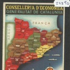 Cartoline: CATALUNYA - CONSELLERIA DECONOMIA - GENERALITAT DE CATALUNYA -OCTUBRE 1936 - GUERRA CIVIL (27390). Lote 46648760