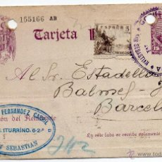 Postales: TARJETA POSTAL PATRIÓTICA AÑO 1939 CON SELLO CENSURA GOBIERNO MILITAR DE GUIPÚZCOA . Lote 47123810