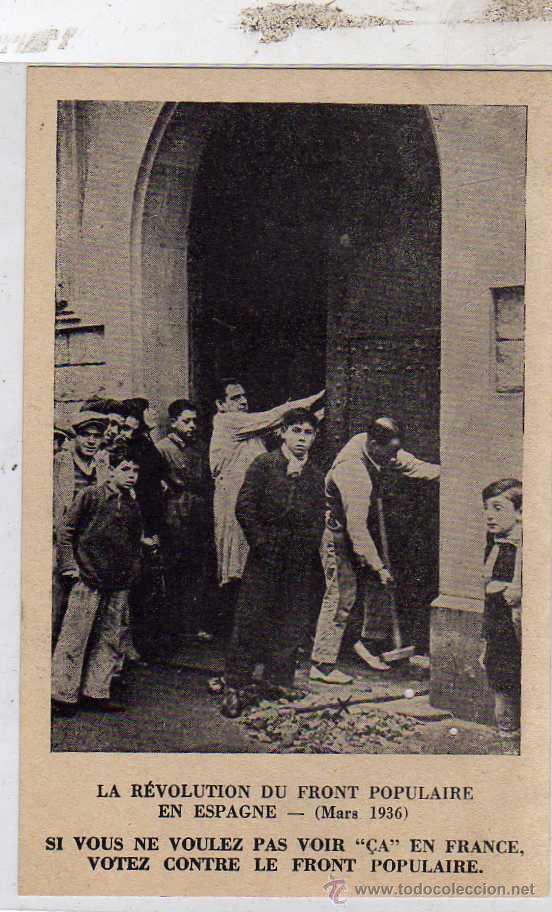 LA REVOLUCIÓN DEL FRENTE POPULAR EN ESPAÑA. JOVENES COMUNISTAS ASALTANDO UNA CASA EN BARCELONA (Postales - Postales Temáticas - Guerra Civil Española)