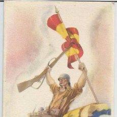Postales: POSTAL PROPAGANDA PATRIÓTICA BANDO NACIONAL ARRIBA ESCUADRAS A VENCER. Lote 48391916