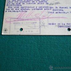 Postales: POSTAL JOSÉ ANTONIO PRIMO DE RIVERA FALANGE MORON FRONTERA SEVILLA CIRCULADA 1944 ROBLES MALAGA. Lote 48611142