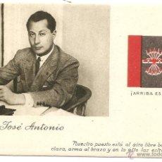 Postales: POSTAL DE JOSÉ ANTONIO PRIMO DE RIVERA. Lote 49253806