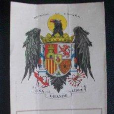 Postales: GUERRA CIVIL : ESTAMPA PATRIOTICO-RELIGIOSA: CORAZON DE JESUS - AGUILA NACIONAL .. Lote 49468918