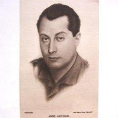 Postales: TARJETA POSTAL PATRIÓTICA JOSE ANTONIO PRIMO DE RIVERA. FALANGE GUERRA CIVIL ESPAÑOLA. FOTO MARIN. Lote 135333554