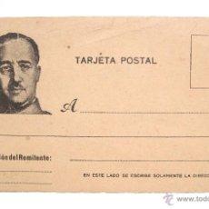 Postales: TARJETA POSTAL PATRIÓTICA FRANCO. CAUDILLO ESPAÑOL. EPOCA DE LA GUERRA CIVIL. FALANGE ESPAÑA. Lote 49469308