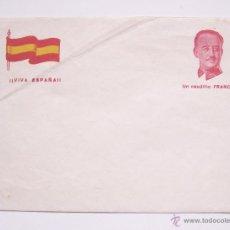 Postales: TARJETA POSTAL PATRIÓTICA SOBRE FRANCO. CAUDILLO ESPAÑOL. EPOCA DE LA GUERRA CIVIL. FALANGE ESPAÑA. Lote 49469328