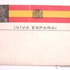 Postales: TARJETA POSTAL PATRIÓTICA SOBRE FRANCO. CAUDILLO ESPAÑOL. EPOCA DE LA GUERRA CIVIL. FALANGE ESPAÑA. Lote 49469347