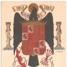 Postales: RARA POSTAL ORIGINAL DE J. CABANAS CON EL ESCUDO OFICIAL ÉPOCA DEL FRANQUISMO. Lote 27389533