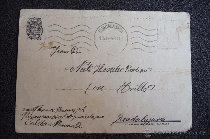 (JX-2631)POSTAL ENVIADA DESDE LA PRISION DE GUADALAJARA X FLORENCIO PASCUAL,U.G.T.FUSILADO (Postcards - Themed - Spanish Civil War)