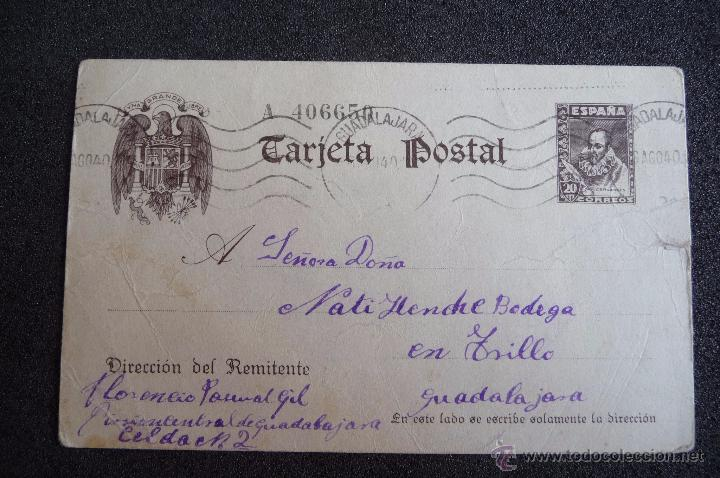(JX-2633)POSTAL ENVIADA DESDE LA PRISION DE GUADALAJARA X FLORENCIO PASCUAL,U.G.T.FUSILADO (Postcards - Themed - Spanish Civil War)