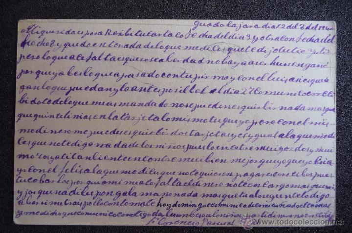 Postcards: (JX-2634)POSTAL ENVIADA DESDE LA PRISION DE GUADALAJARA X FLORENCIO PASCUAL,U.G.T.FUSILADO - Foto 2 - 50464943