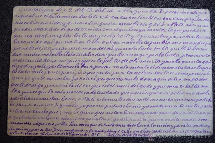 Postcards: (JX-2635)POSTAL ENVIADA DESDE LA PRISION DE GUADALAJARA X FLORENCIO PASCUAL,U.G.T.FUSILADO - Foto 2 - 50464974