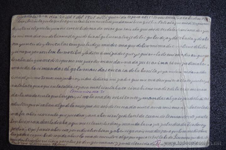 Postcards: (JX-2637)POSTAL ENVIADA DESDE LA PRISION DE GUADALAJARA X FLORENCIO PASCUAL,U.G.T.FUSILADO - Foto 2 - 50465046