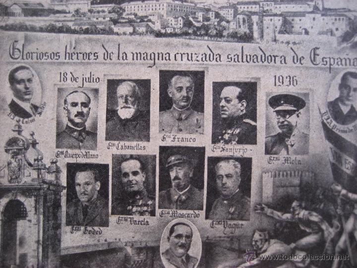 Postales: Tarjeta Postal. Gloriosos heroes de la magna cruzada salvadora de España. Sin circular - Foto 2 - 51050805