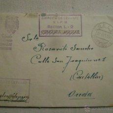 Postales: CARTA CON CENSURA MILITAR DE CHELVA A ONDA ,CASTELLON.-385. Lote 54208179