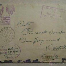 Postales: CARTA CON CENSURA MILITAR DE CHELVA A ONDA ,CASTELLON.-386. Lote 54208250