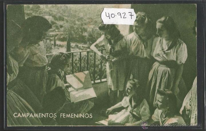 GUERRA CIVIL - FALANGE - CAMPAMENTOS FEMENINOS - FRENTE DE JUVENTUDES - (40927) (Postales - Postales Temáticas - Guerra Civil Española)