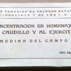 Postales: BLOCK 20 POSTALES CONCENTRACIÓN HOMENAJE CAUDILLO Y EJERCITO. MEDINA DEL CAMPO VALLADOLID.. Lote 55395289
