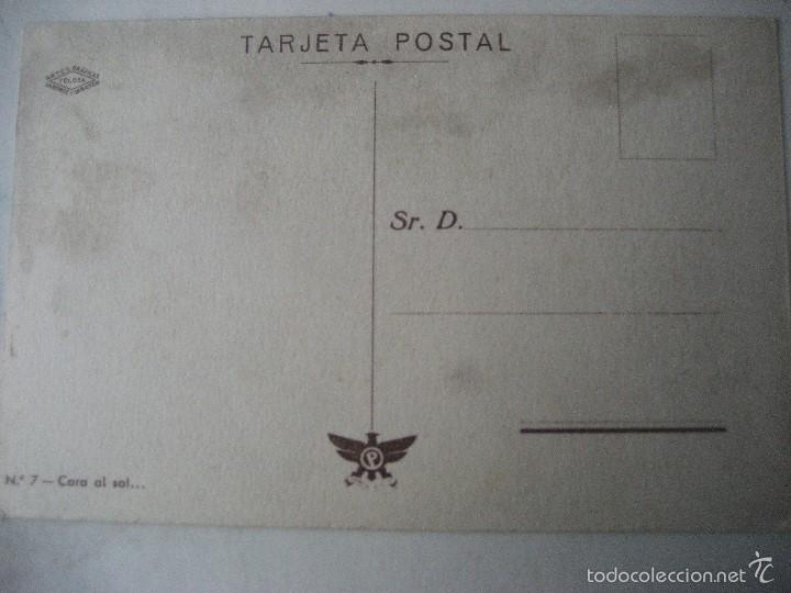 Postales: Cara al Sol. Nº 7. Artes Graficas Laborde y Labaten. Tolosa. Sin circular - Foto 2 - 55571169