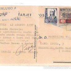 Postkarten - TARJETA POSTAL CON CENSURA MILITAR. - 56731943