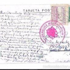 Postales: TARJETA POSTAL CON CENSURA MILITAR. PUERTO DE SANTA MARIA.. Lote 56731988