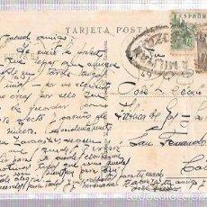 Postales: TARJETA POSTAL CON CENSURA MILITAR. ZARAGOZA.. Lote 56732036