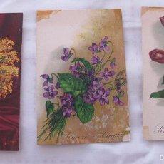 Postales: TRES POSTALES GUERRA CIVIL CENSURA MILITAR CADIZ 1939. Lote 57774255
