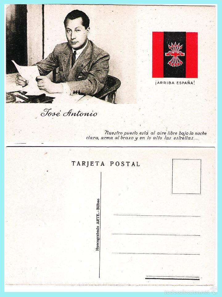 TARJETA POSTAL: JOSE ANTONIO PRIMO DE RIVERA. ORIGINAL DE 1930. NUEVA. (Postales - Postales Temáticas - Guerra Civil Española)