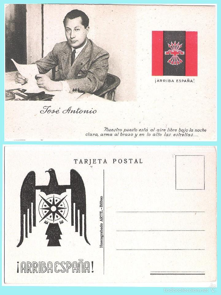 T. POSTAL: JOSE ANTONIO PRIMO DE RIVERA. ORIGINAL DE 1930. NUEVA.REV. PROPAGANDA AGUILA DE FALANGE.. (Postales - Postales Temáticas - Guerra Civil Española)