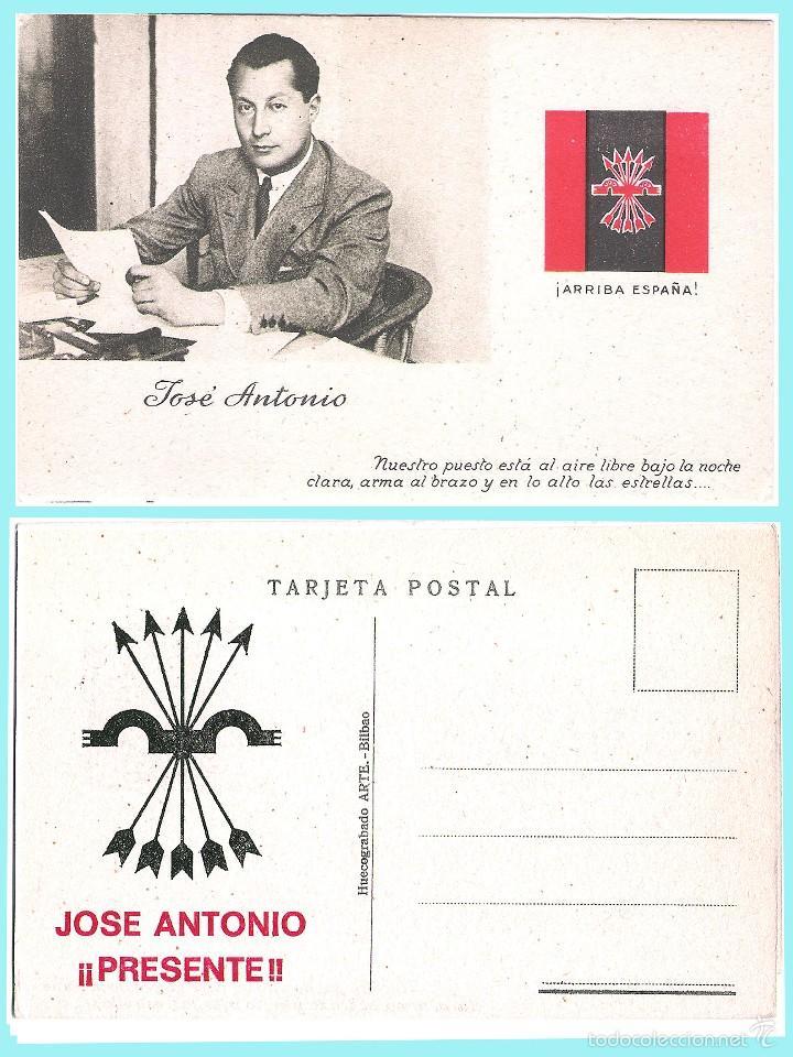 T. POSTAL: JOSE ANTONIO PRIMO DE RIVERA. ORIGINAL DE 1930. NUEVA. REV. PROPAGANDA DE FALANGE.. (Postales - Postales Temáticas - Guerra Civil Española)