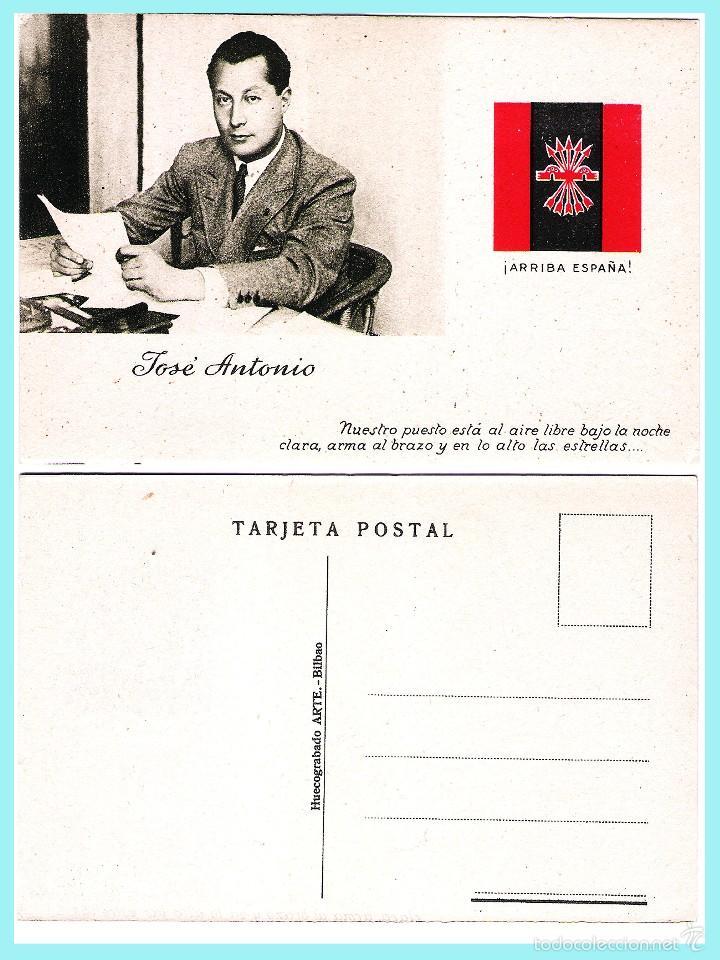 Postales: 5 T P.de JOSE ANTONIO PRIMO DE RIVERA. ORIGINAL DE 1930. NUEVAS. Rev. PROPAGANDA VARIADA DE FALANGE. - Foto 2 - 57867556