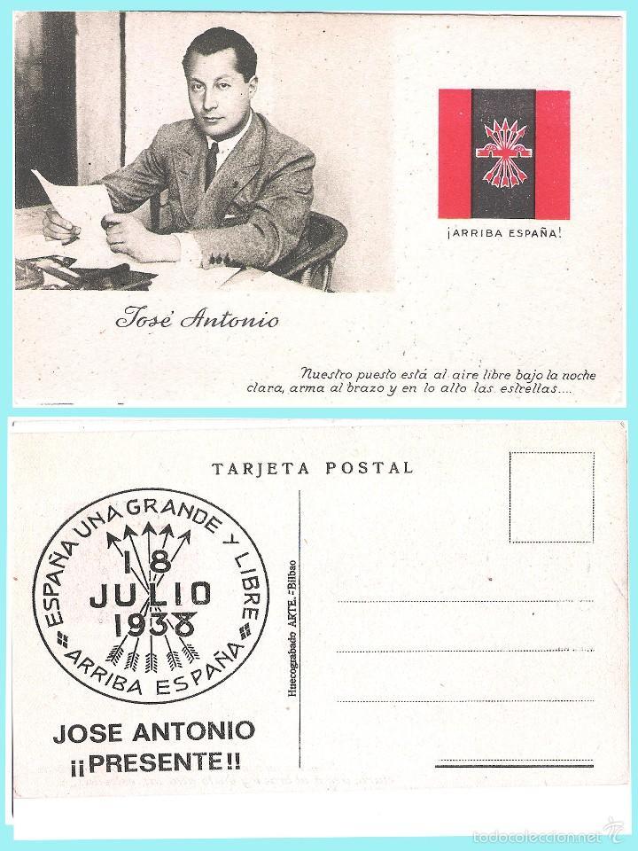 Postales: 5 T P.de JOSE ANTONIO PRIMO DE RIVERA. ORIGINAL DE 1930. NUEVAS. Rev. PROPAGANDA VARIADA DE FALANGE. - Foto 6 - 57867556