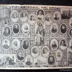 Postales: (JX-1758) TARJETA GUERRA CIVIL , MÁRTIRES CARMELITAS 1936 - 1939.. Lote 58153137