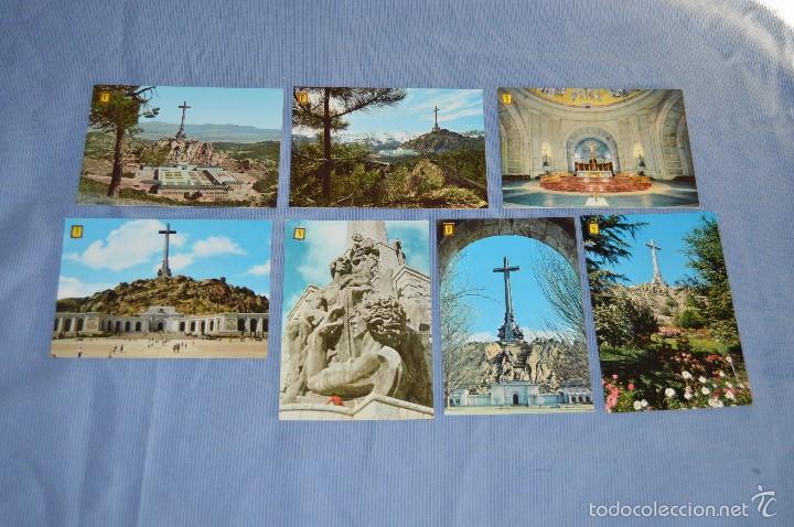 LOTE 7 POSTALES SANTA CRUZ VALLE DE LOS CAÍDOS - SIN CIRCULAR - PATRIMONIO NACIONAL - MUY BUEN ESTAD (Postales - Postales Temáticas - Guerra Civil Española)