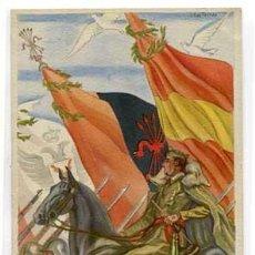 Postales: POSTAL: EL CAUDILLO ( FRANCO ) COLECCION ARTIFICES DE LA HISTORIA. IKON EDICIONES D ARTE BARCELONA. Lote 59600231