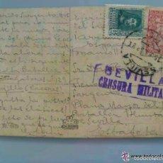Postales: POSTAL GALANTE CIRCULADA A BTON. TRABAJADORES CACERES DESDE SEVILLA, 1937 . CON VIÑETA PRO-SEVILLA. Lote 59639855