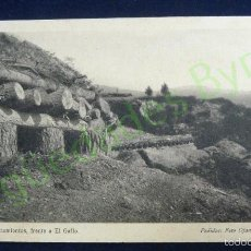 Postales: ATRINCHERAMIENTOS FRENTE A EL GALLO. FOTO OJANGUREN. SERIE I. Nº 2. Lote 59821272