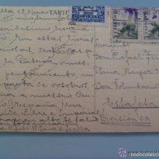 Postales: POSTAL FRANCO CIRCULADA A BTON. VOLUNTARIOS DE SEVILLA, 1939 . CON VIÑETA PRO-SEVILLA. Lote 60165519