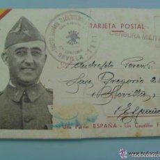 Postales: GUERRA CIVIL : POSTAL DE CAMPAÑA CIRCULADA 1ª BANDERA FALANGE , 2ª CENTURIA. Lote 61176955
