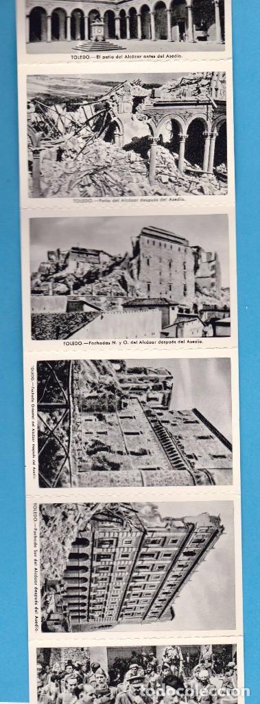 Postales: ALCÁZAR DE TOLEDO. PRIMERA SERIE DE 11 POSTALES. EDICIÓN EN 1960 - Foto 4 - 62948772