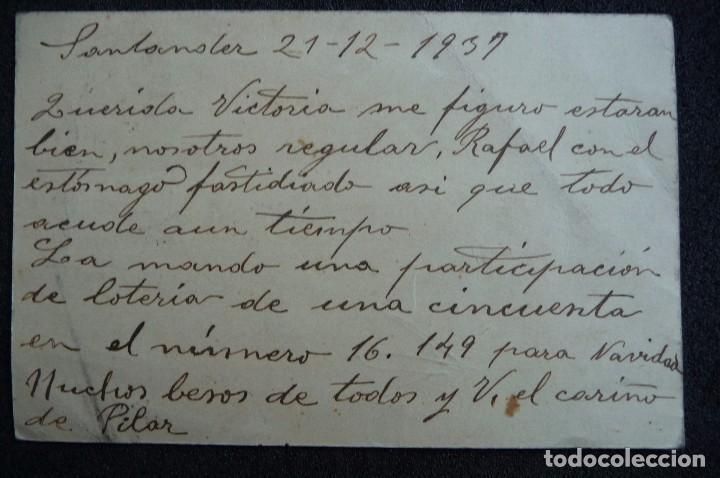 Postales: (JX-161151)Tarjeta postal enviada desde Santander a Carrión de los Condes , Guerra Civil - Foto 3 - 66183410
