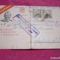 Postales: GUERRA CIVIL ESPAÑOLA 1938 POSTAL CARTA A SOLDADO DE 82 DIVISION DE ZARAGOZA.. Lote 68396117