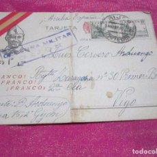 Postales: POSTAL CENSURA MILITAR GUERRA CIVIL ESPAÑOLA 1939 CARTA A UN SOLDADO DE SU MADRE. Lote 68397349