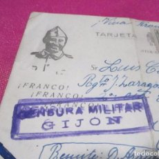 Postales: POSTAL CENSURA MILITAR GUERRA CIVIL ESPAÑOLA 1939 CARTA A UN SOLDADO . Lote 68398837